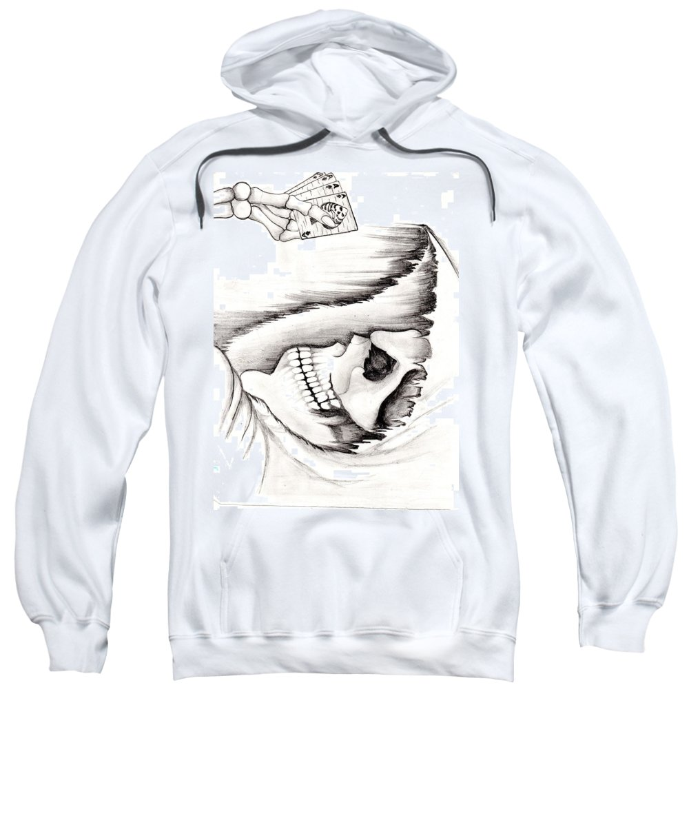 Skeleton Sweatshirt featuring the photograph Skull Gambler by Dhruv Patel