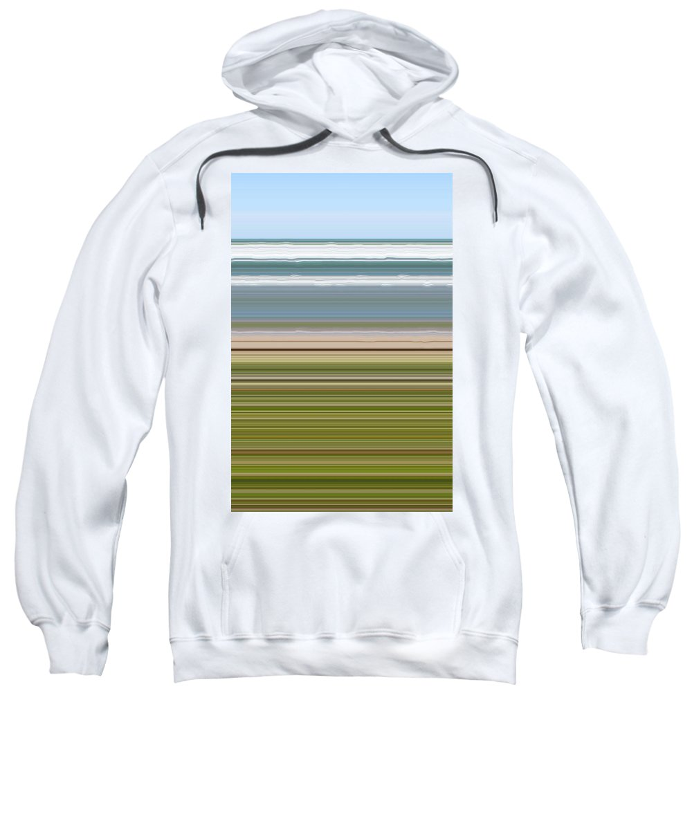 Lake Sweatshirt featuring the digital art Sky Water Earth Grass by Michelle Calkins