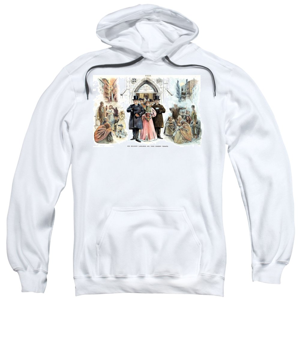 1895 Sweatshirt featuring the photograph Slum Landlords, 1895 by Granger