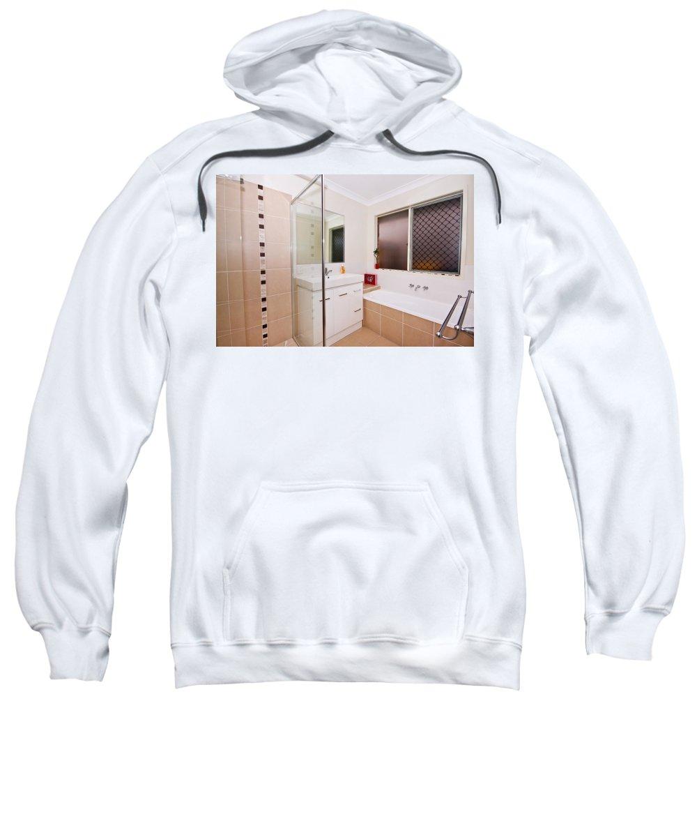 Bath Sweatshirt featuring the photograph Small Bathroom by Darren Burton