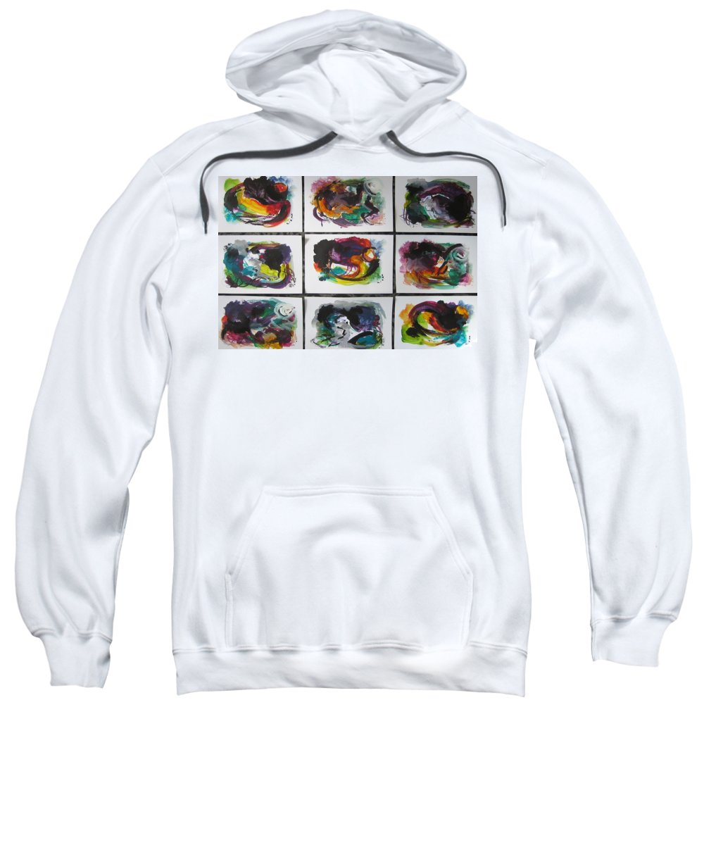 Abstract Paintings Sweatshirt featuring the painting Small Landscape4 by Seon-Jeong Kim