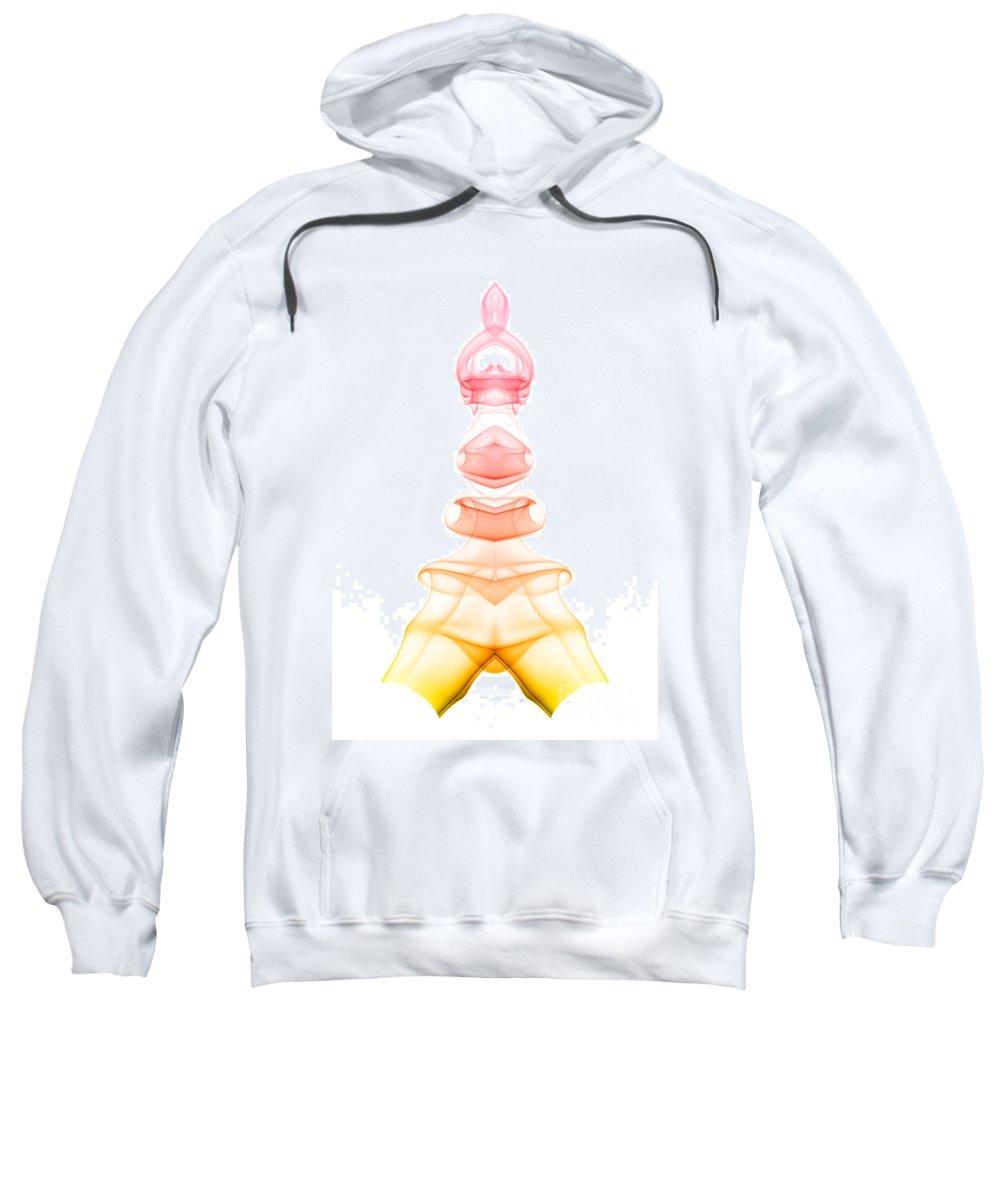 Abstract Sweatshirt featuring the photograph smoke XIX ma1 by Joerg Lingnau