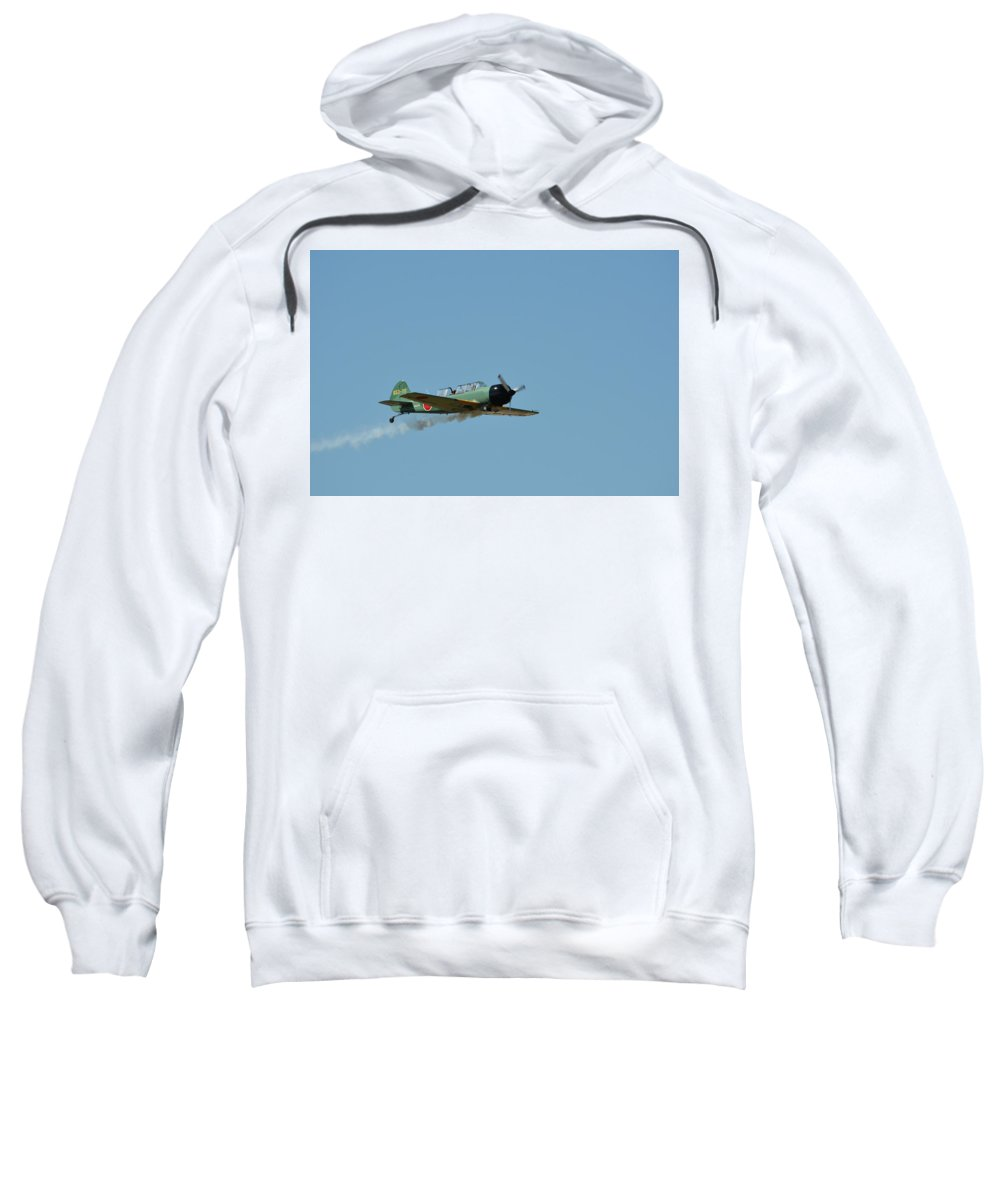Plane Sweatshirt featuring the photograph Smok'n by Robert Lowe