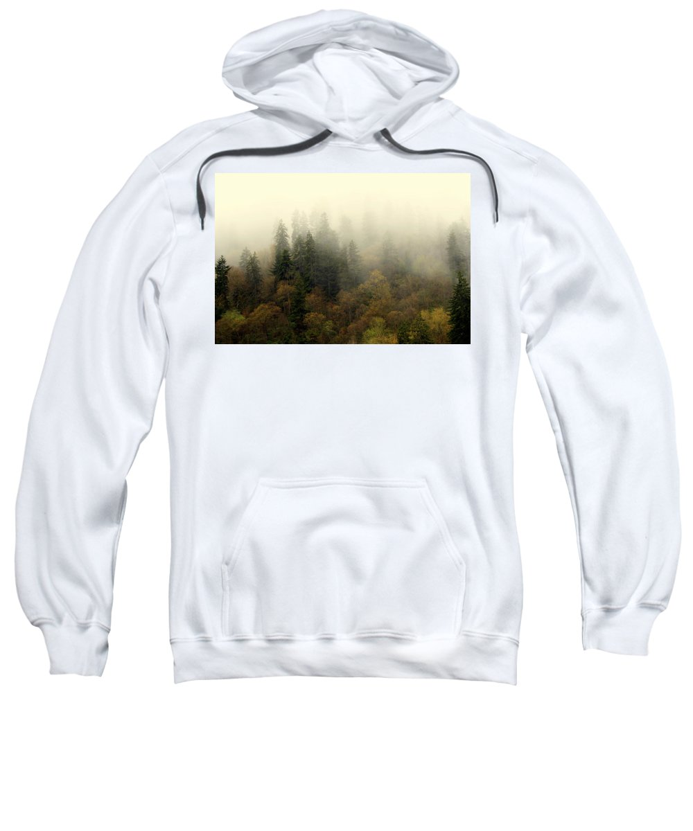 Fog Sweatshirt featuring the photograph Smoky Mount Horizontal by Marty Koch