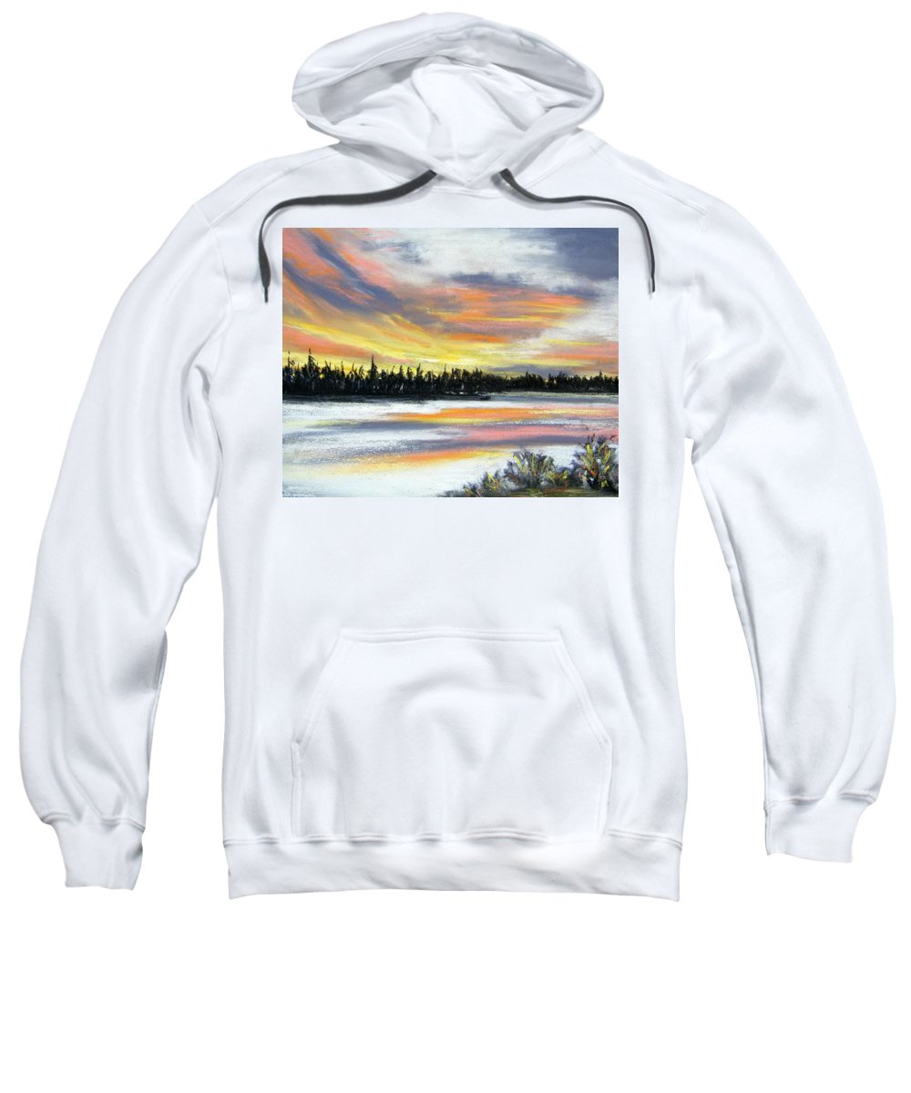 Sunset Sweatshirt featuring the pastel Snake River Sunset by Gale Cochran-Smith
