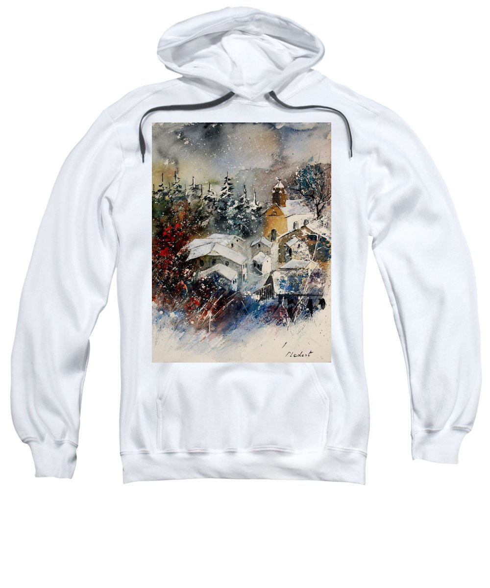 Landscape Sweatshirt featuring the painting Snon In Frahan by Pol Ledent