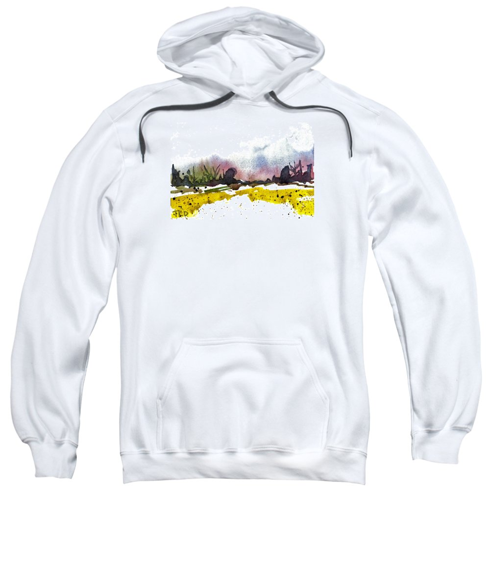 Snow Sweatshirt featuring the painting Snow Field by Tonya Doughty