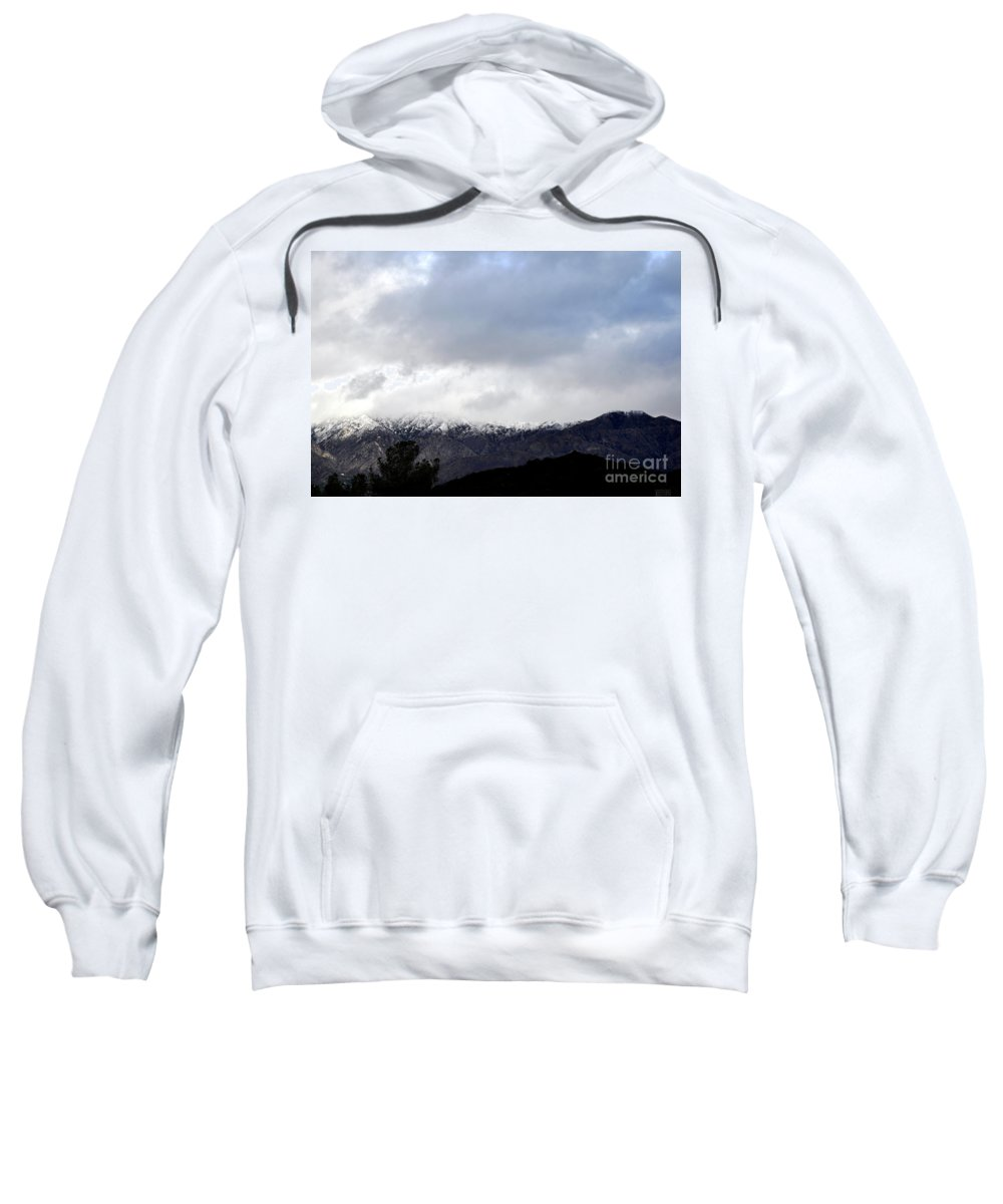 Clay Sweatshirt featuring the photograph Snow Line by Clayton Bruster