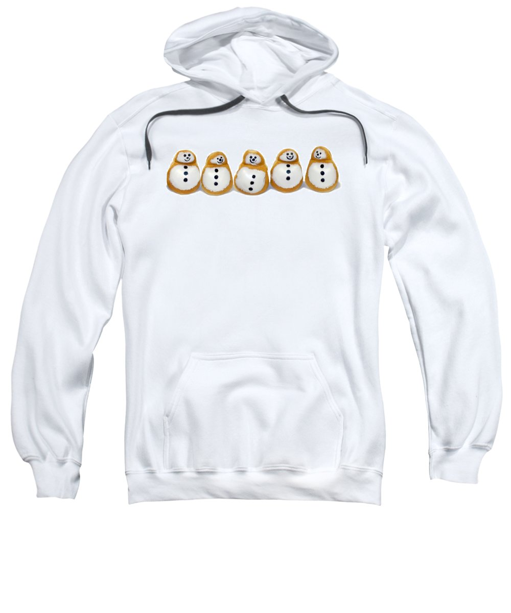 Doughnuts Sweatshirt featuring the photograph Snowman Doughnuts by Francesa Miller