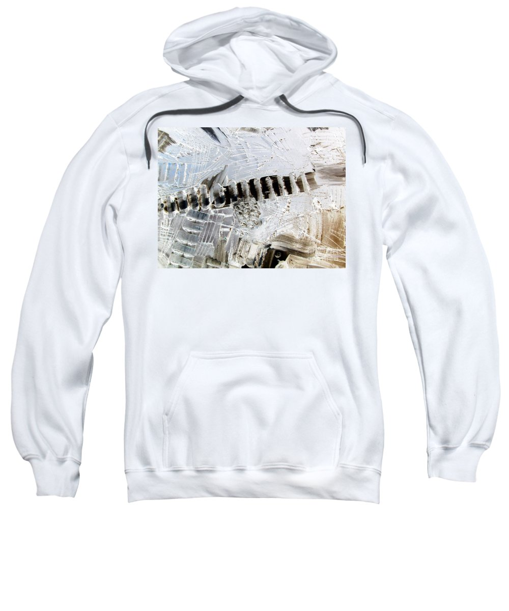 Snow Sweatshirt featuring the painting Snow...the Day After by Dawn Hough Sebaugh