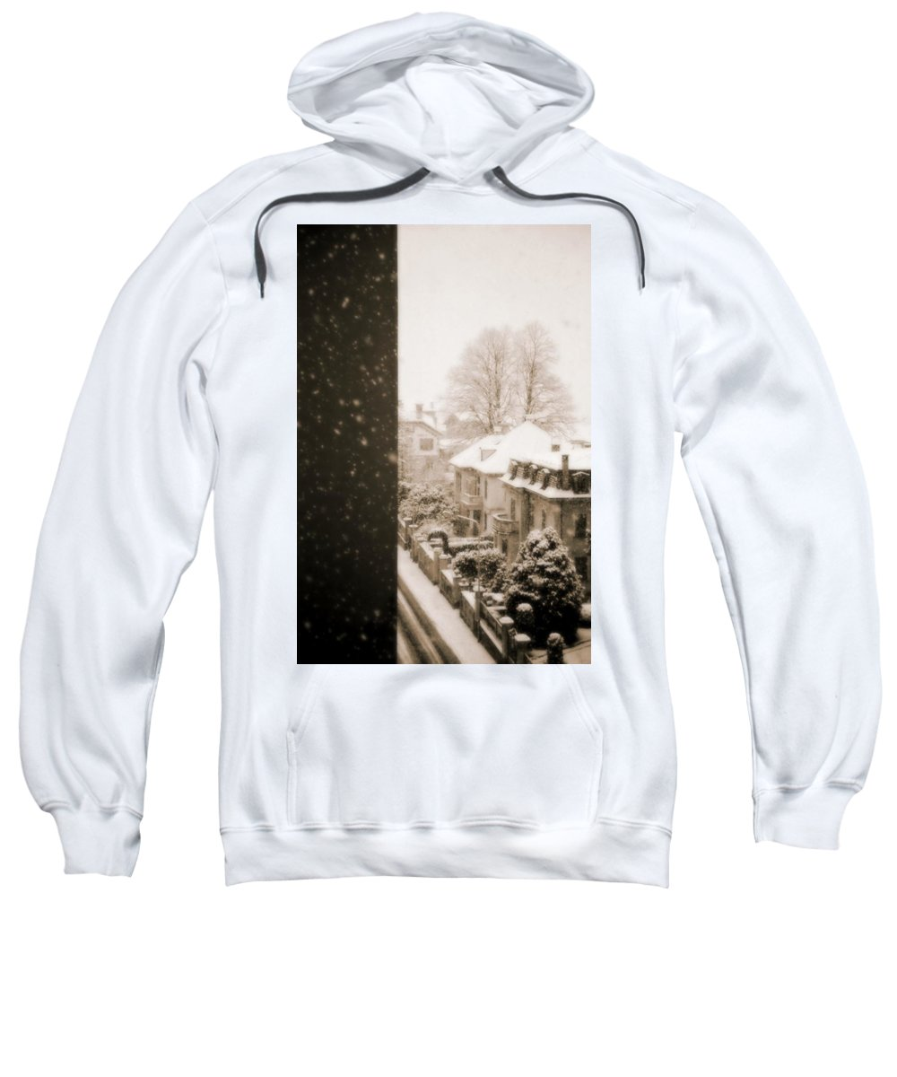 Snow Sweatshirt featuring the photograph Snowy Afternoon by Silvia Ganora