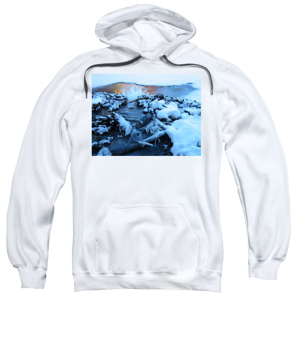 Snow Sweatshirt featuring the photograph Snowy Reflections by Angela Murray