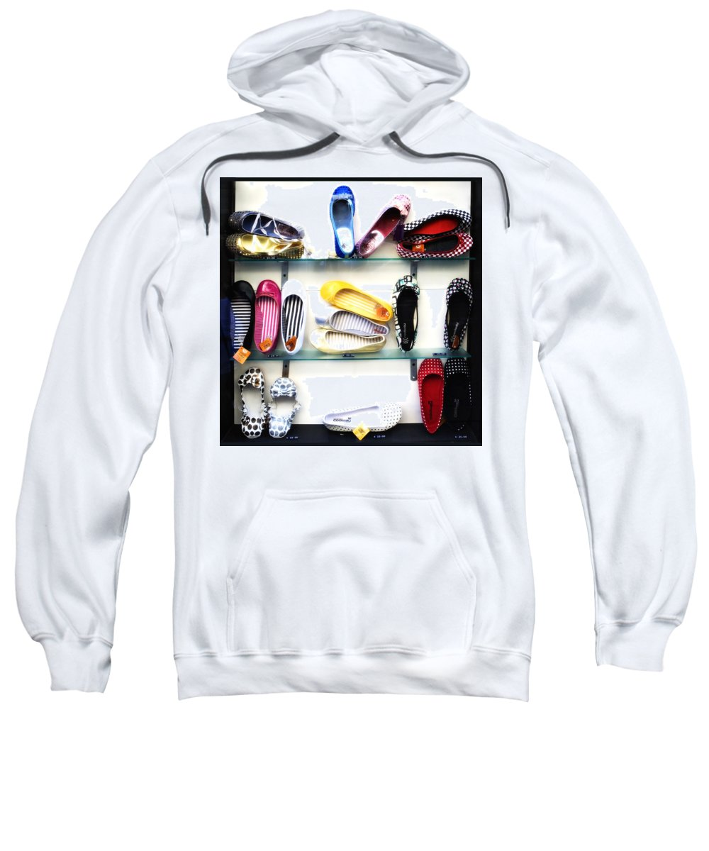Shoes Sweatshirt featuring the photograph So many shoes... by Marilyn Hunt