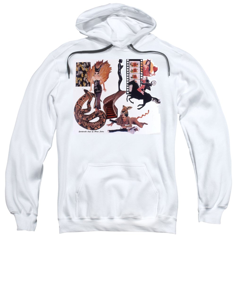 Boa Sweatshirt featuring the drawing Soap Scene #22 Lust In The Wind by Minaz Jantz