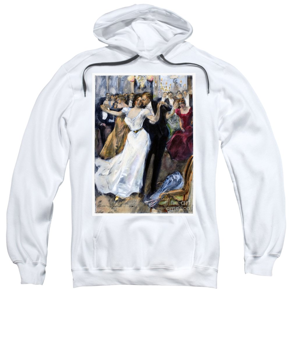1900 Sweatshirt featuring the photograph Society Ball, C1900 by Granger