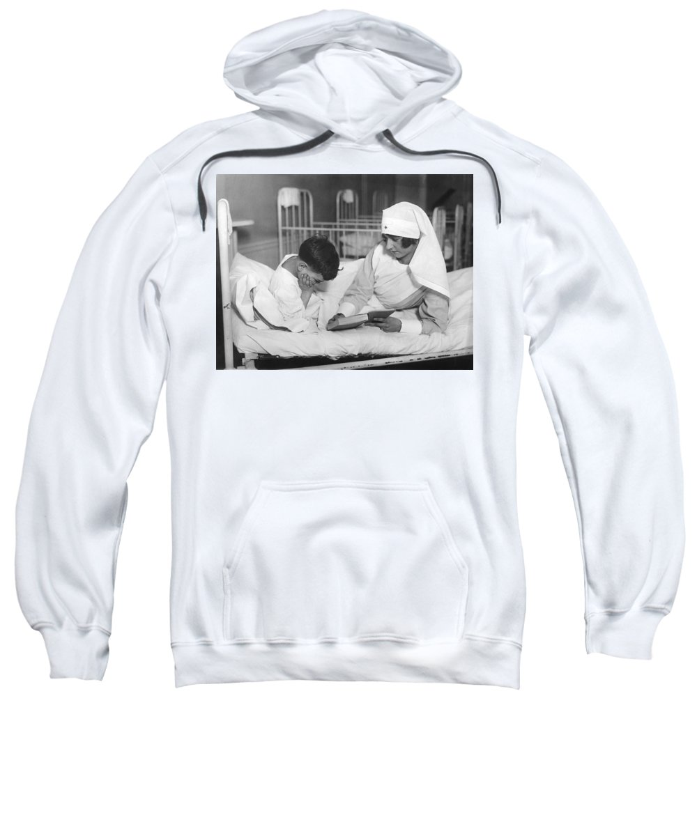 1920s Sweatshirt featuring the photograph Society Girls Volunteer Time by Underwood Archives