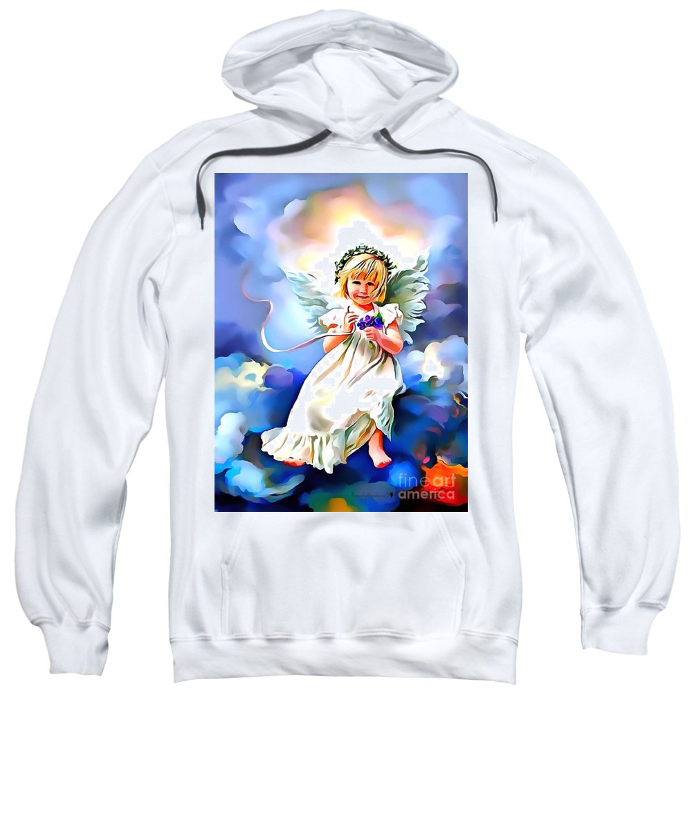Soft And Dreamy Sweet Sweatshirt featuring the painting Soft And Dreamy Sweet by Catherine Lott