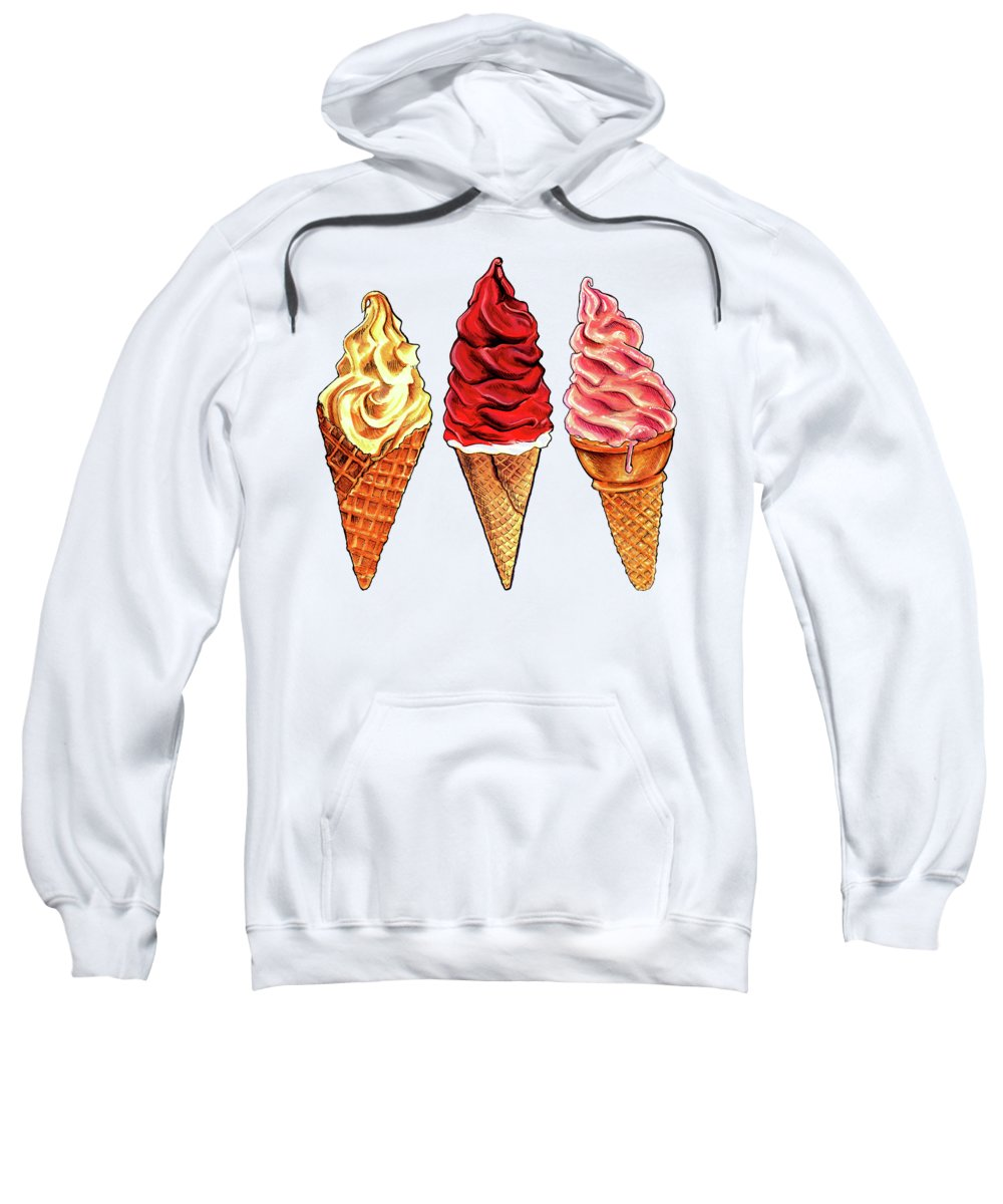 Ice Cream Sweatshirt featuring the painting Soft Serve Pattern by Kelly Gilleran