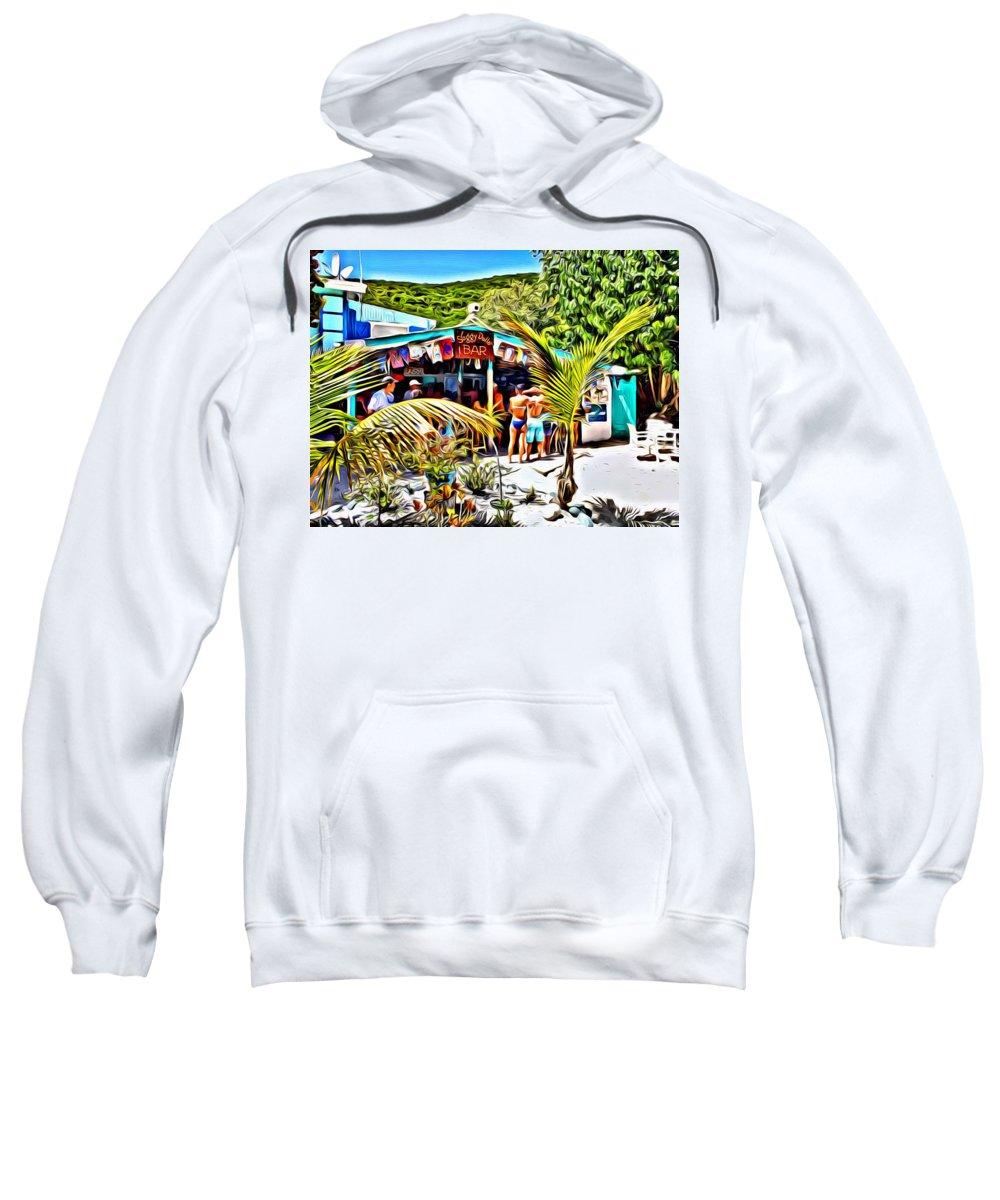 Painkiller Sweatshirt featuring the digital art Soggy Dollar Bar by Anthony C Chen