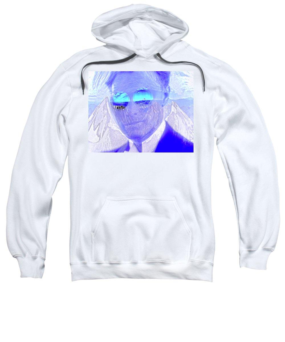 Solar Energy Sweatshirt featuring the digital art Solar Flare In My Eyes by Joseph Mosley