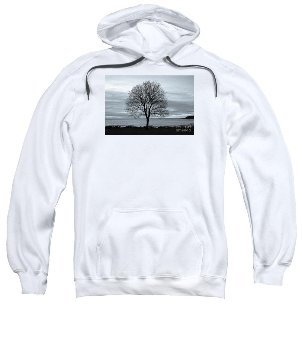 Sunrise Sweatshirt featuring the photograph Solitude 1, New Castle Sunrise by Jim Hayes
