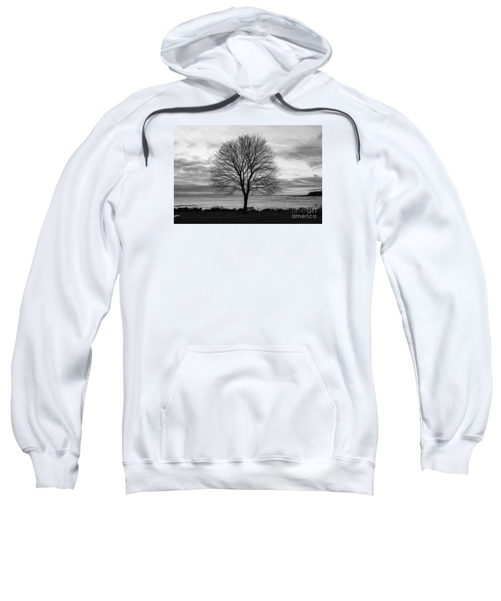 Sunrise Sweatshirt featuring the photograph Solitude 3, New Castle Sunrise by Jim Hayes