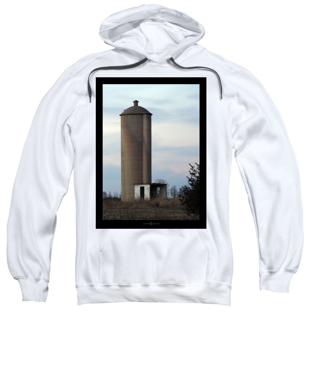 Silo Sweatshirt featuring the photograph Solo Silo by Tim Nyberg