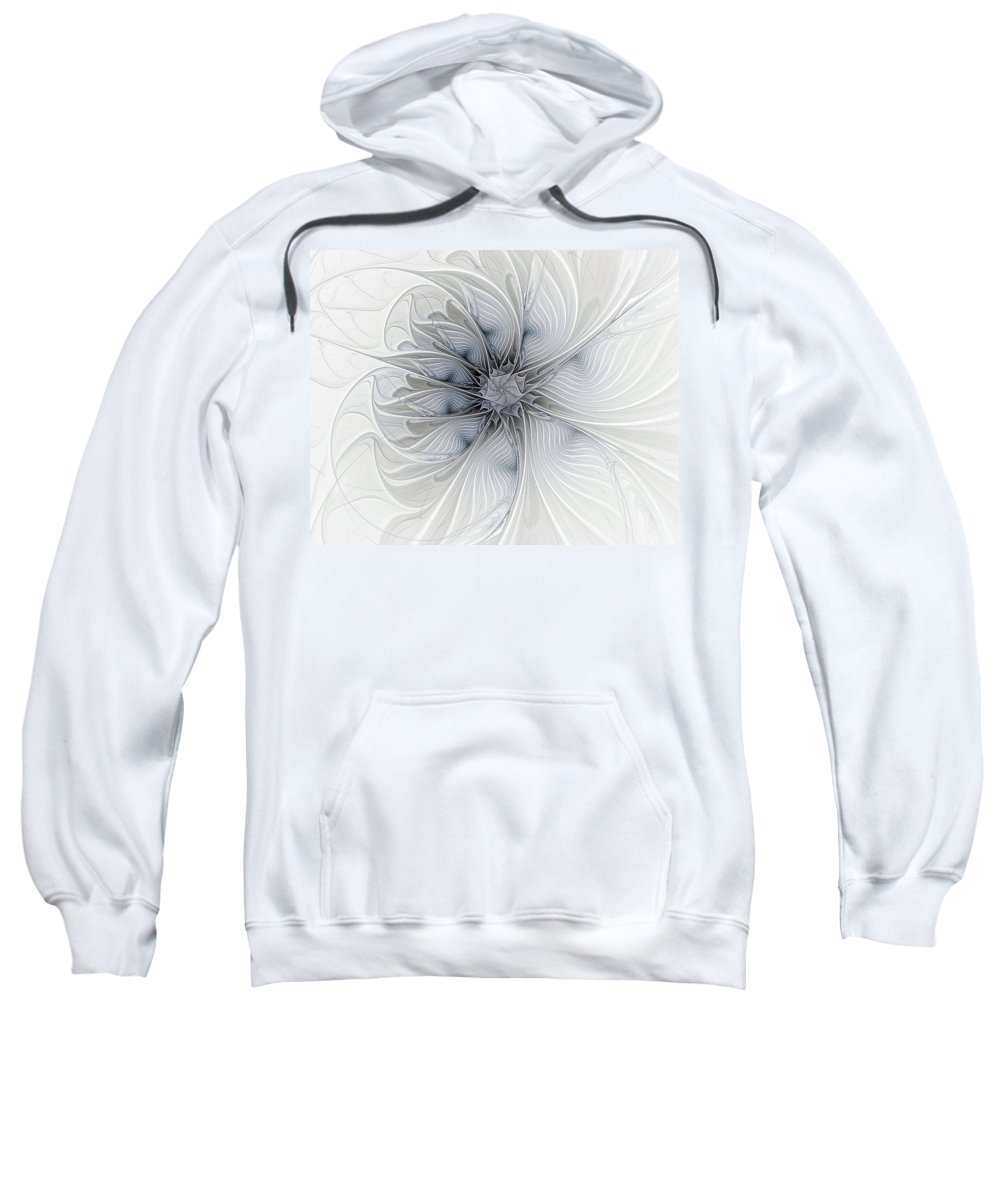 Digital Art Sweatshirt featuring the digital art Something Blue by Amanda Moore