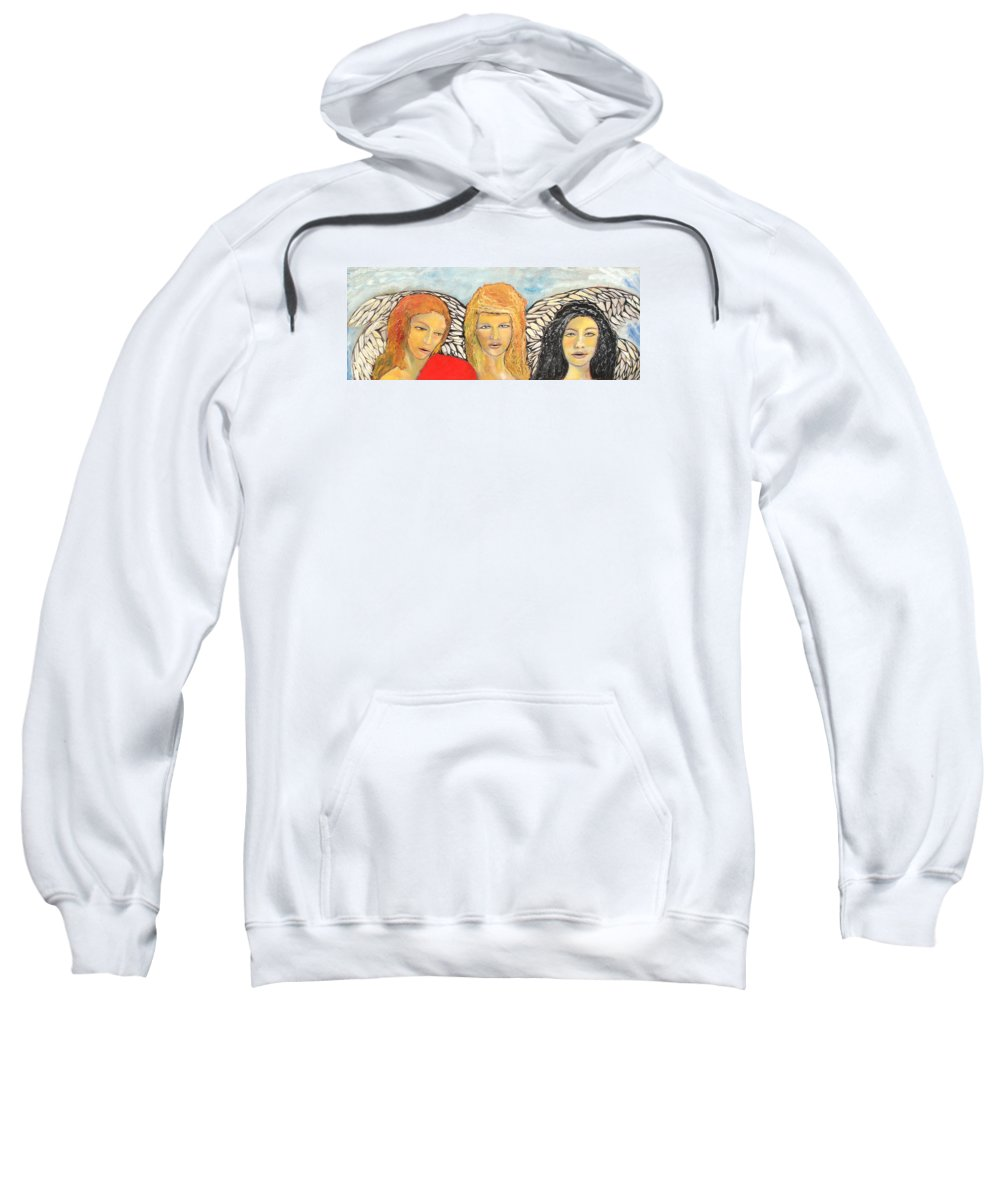 Angels Sweatshirt featuring the painting Song Of The Sisters by J Bauer