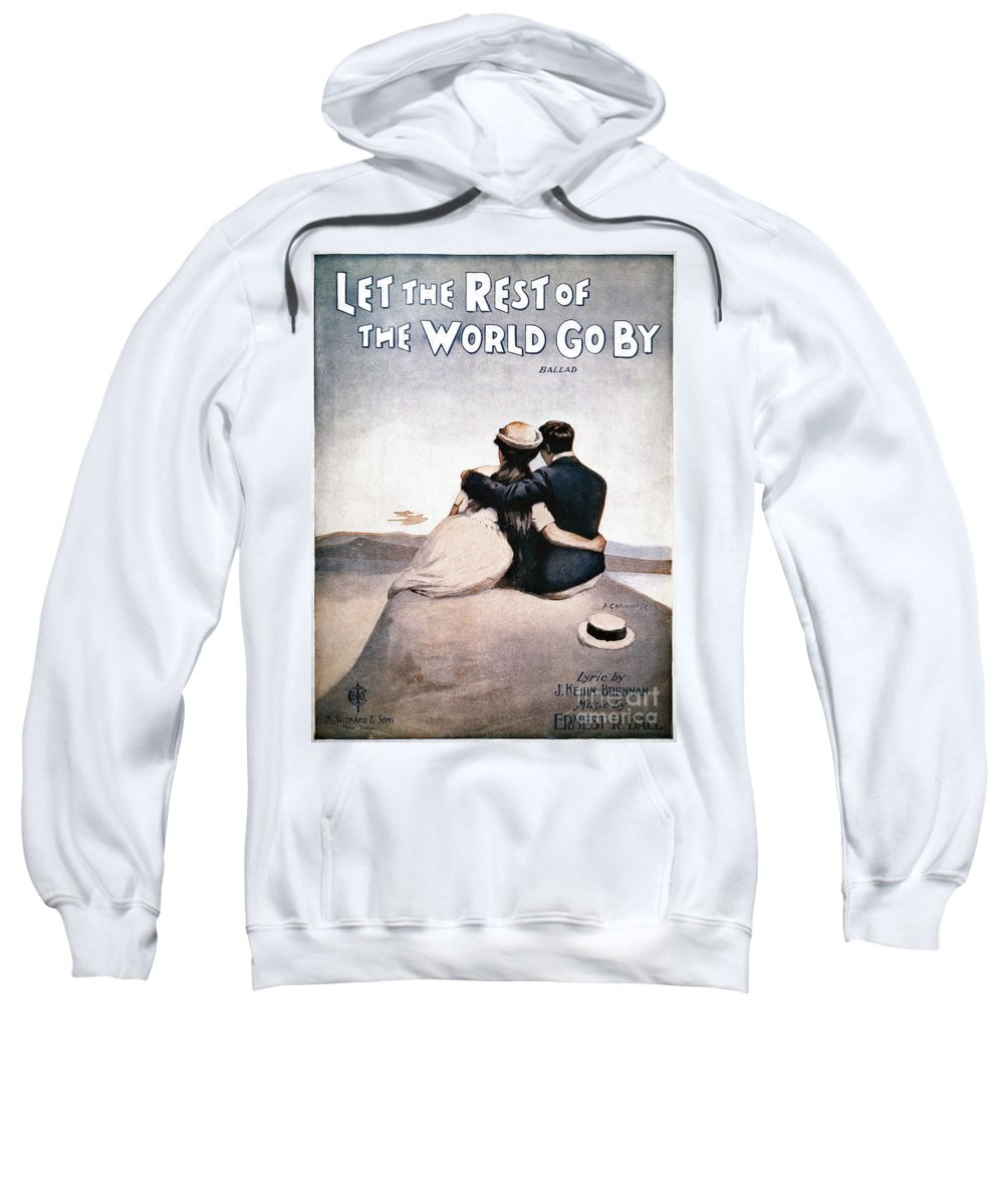 1919 Sweatshirt featuring the photograph Song Sheet Cover, 1919 by Granger