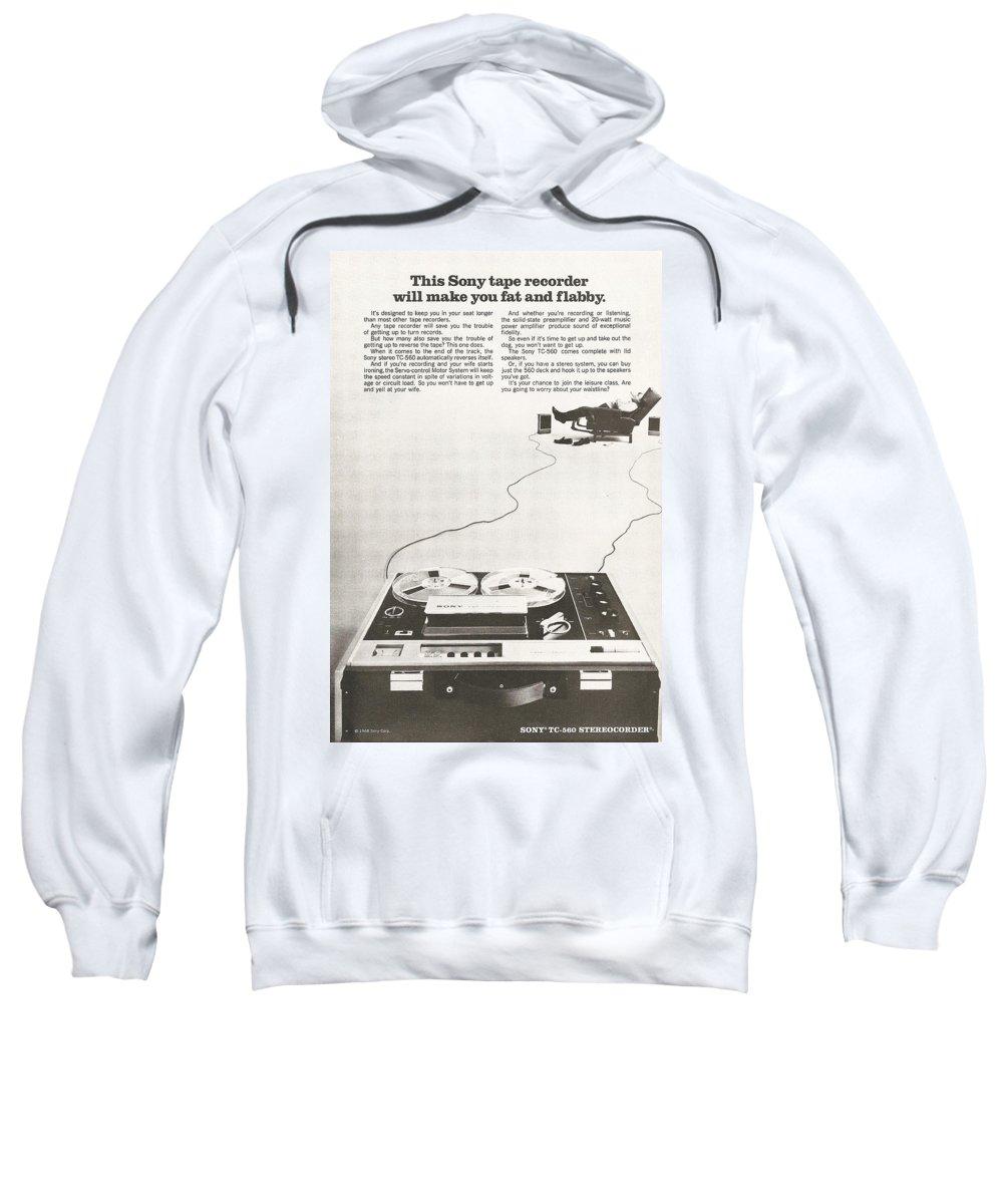 Tape Sweatshirt featuring the digital art Sony Vintage Advert by Georgia Fowler