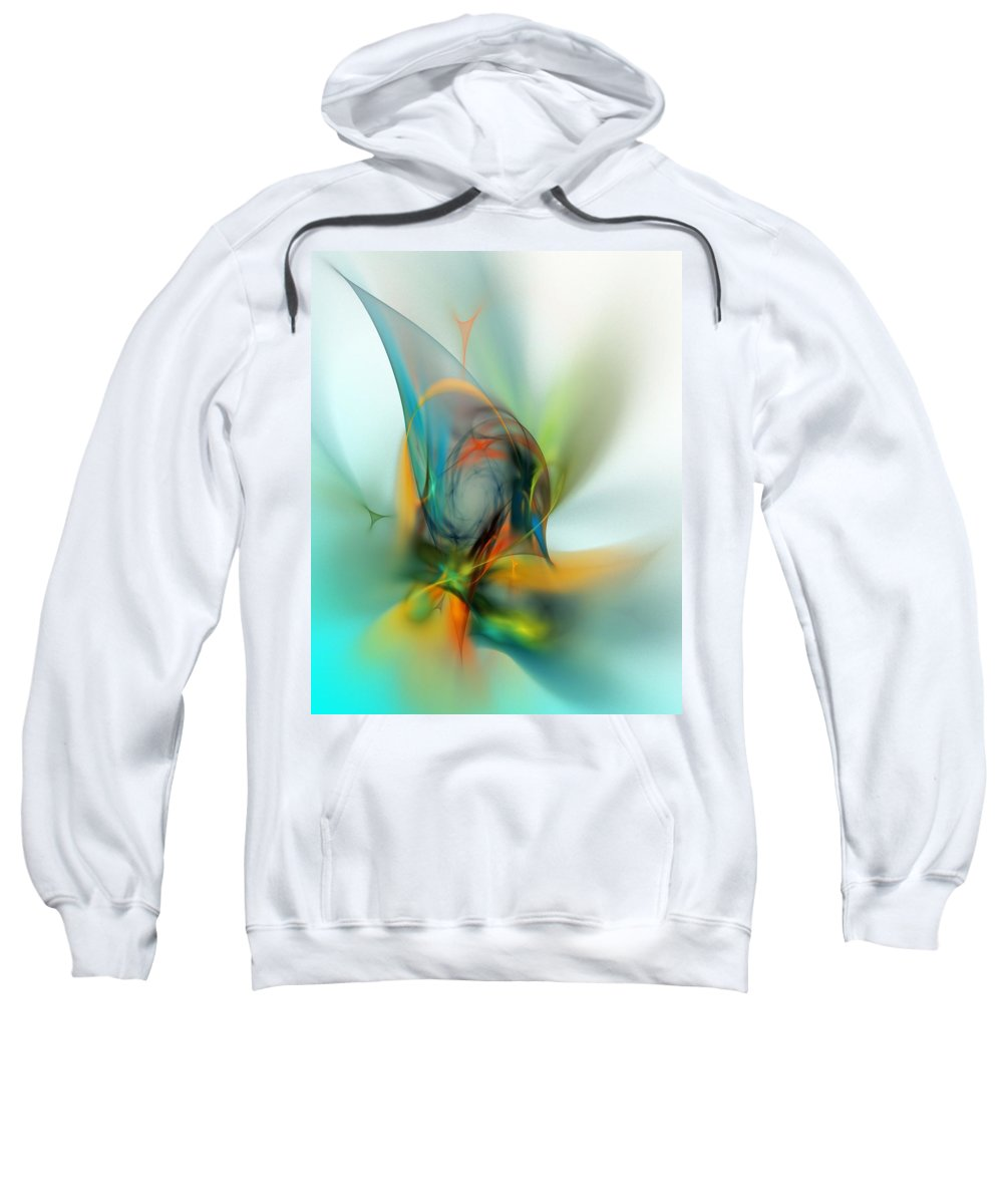 Digital Painting Sweatshirt featuring the digital art Sorcerers Apprentice by David Lane