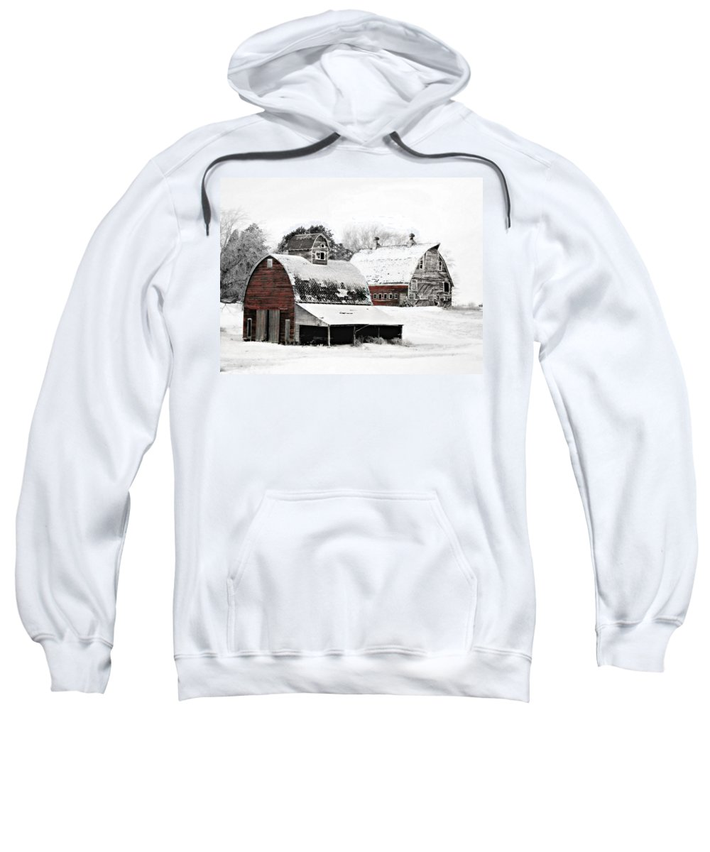 Christmas Sweatshirt featuring the photograph South Dakota Farm by Julie Hamilton