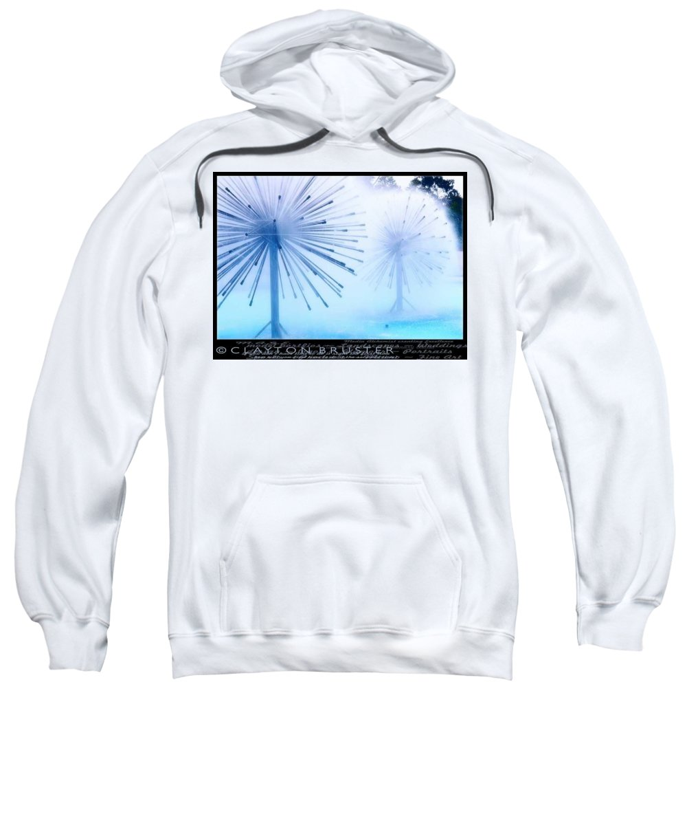 Clay Sweatshirt featuring the photograph Southern California Fountains by Clayton Bruster