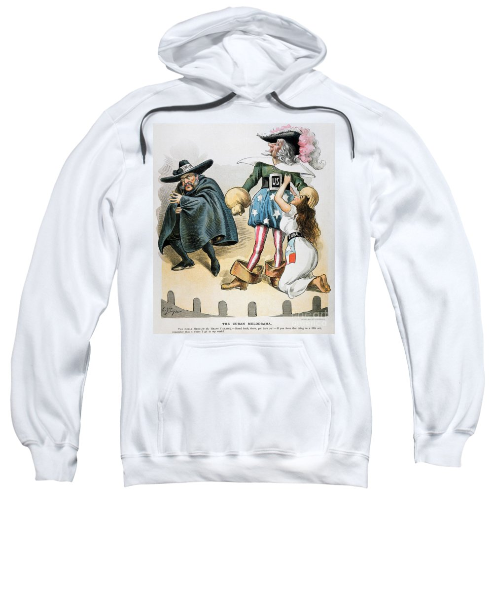 1896 Sweatshirt featuring the photograph Spanish-american War, 1896 by Granger