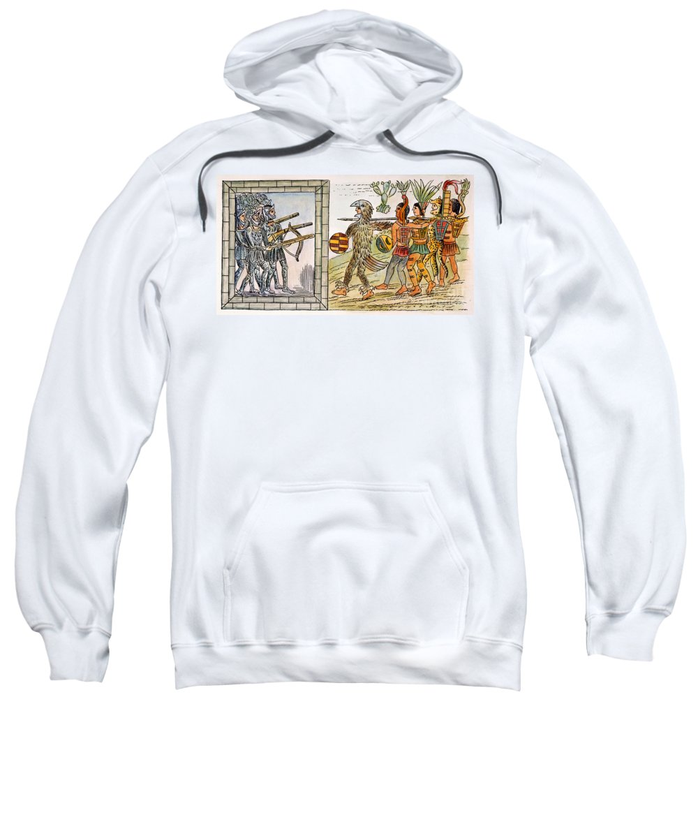 1520 Sweatshirt featuring the photograph Spanish Conquest, 1520 by Granger