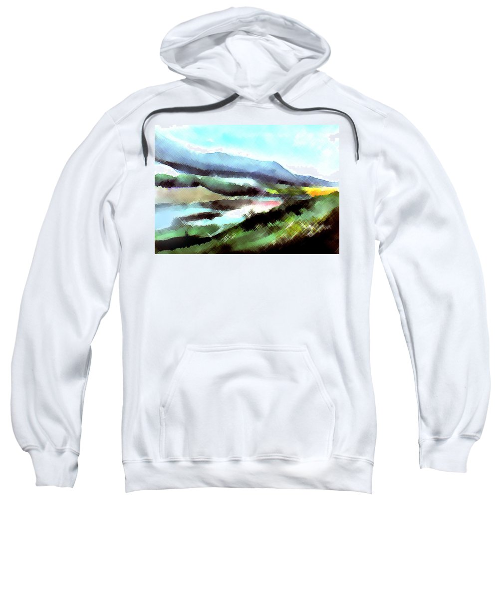 Digital Art Sweatshirt featuring the painting Sparkling by Anil Nene