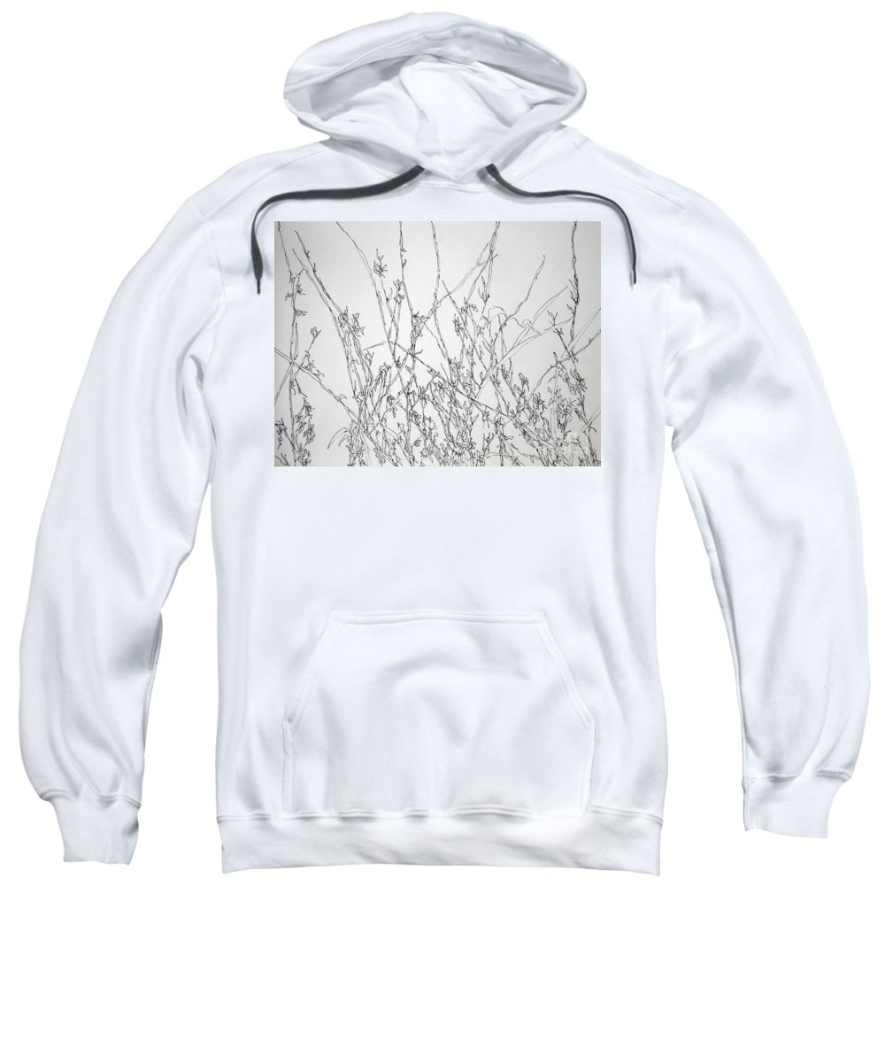 Pen And Ink Sweatshirt featuring the painting Sparsely Beautiful by Vicki Housel