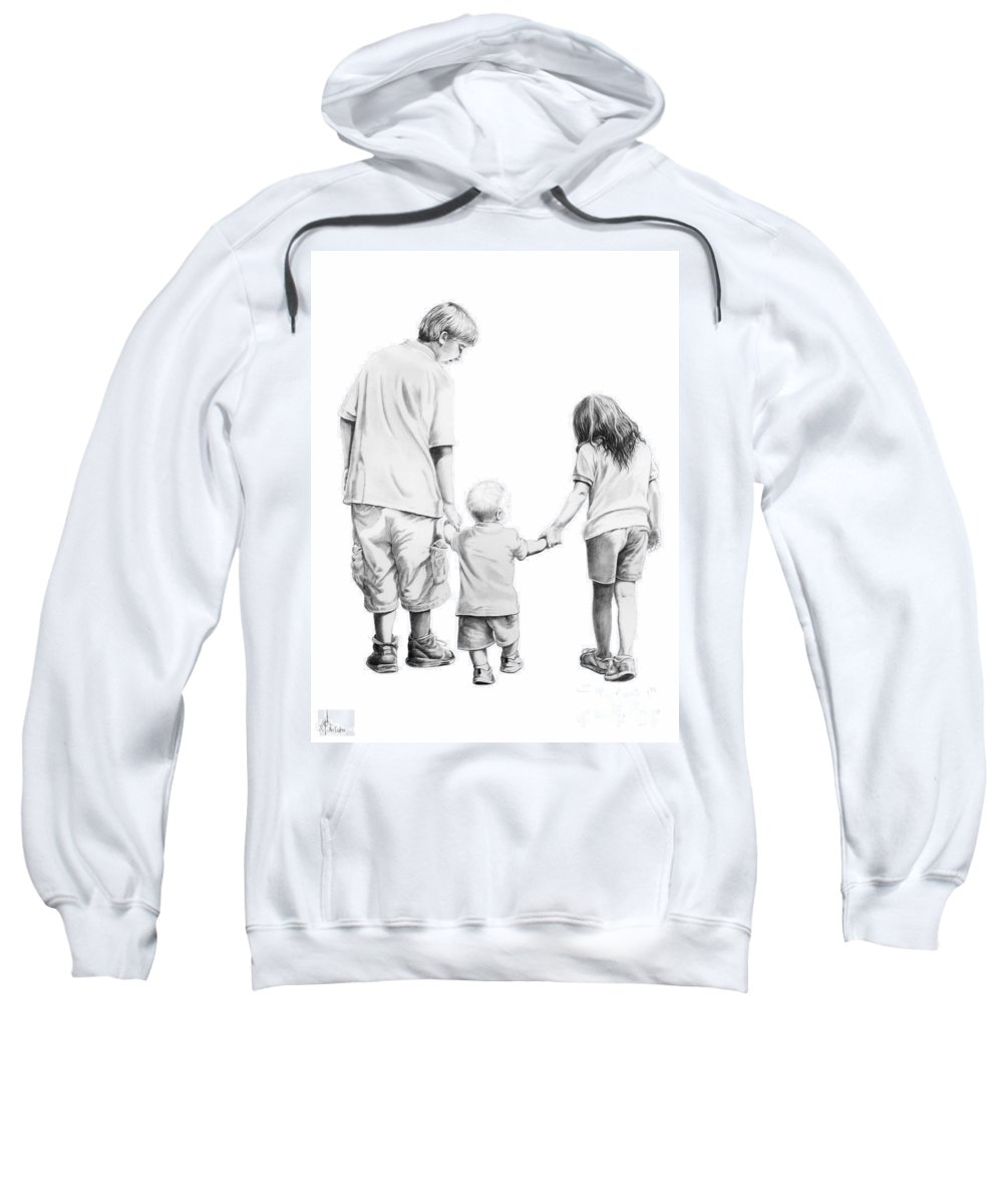Figures Sweatshirt featuring the drawing Special Children by Murphy Elliott