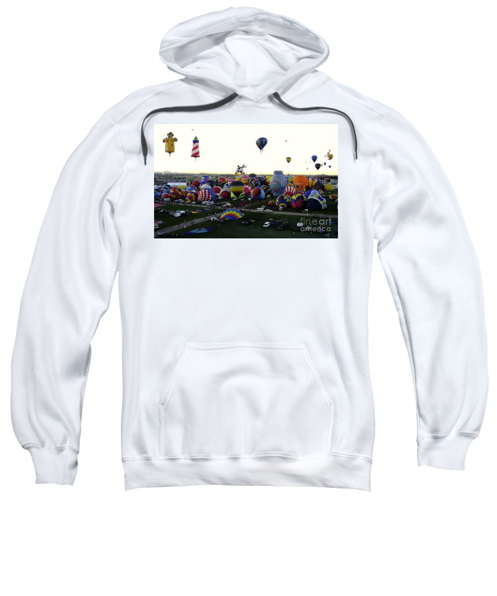 Hot Air Balloons Sweatshirt featuring the photograph Special Shapes by Mary Rogers
