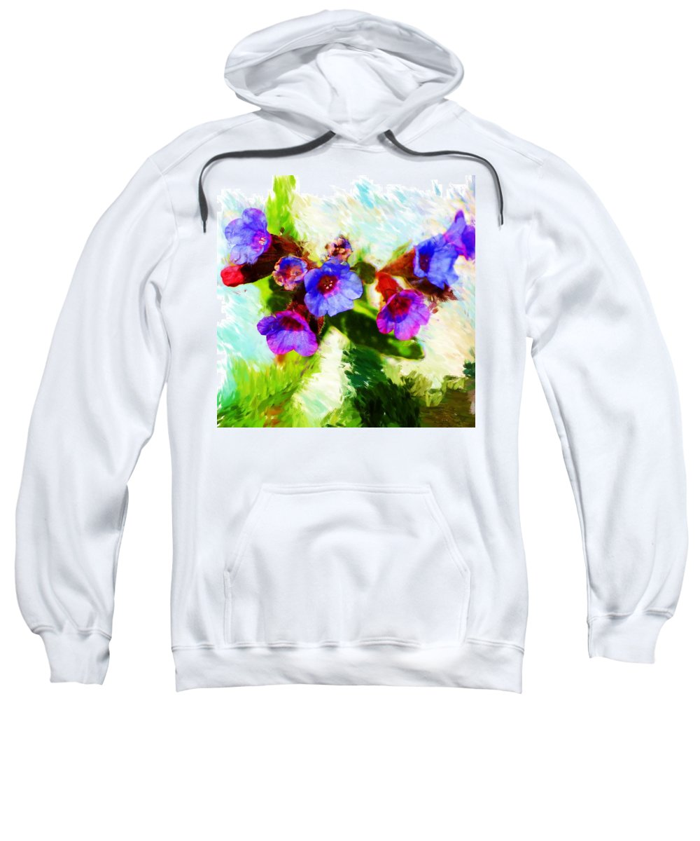 Abstract Sweatshirt featuring the photograph Speckled Trout The Flower by David Lane