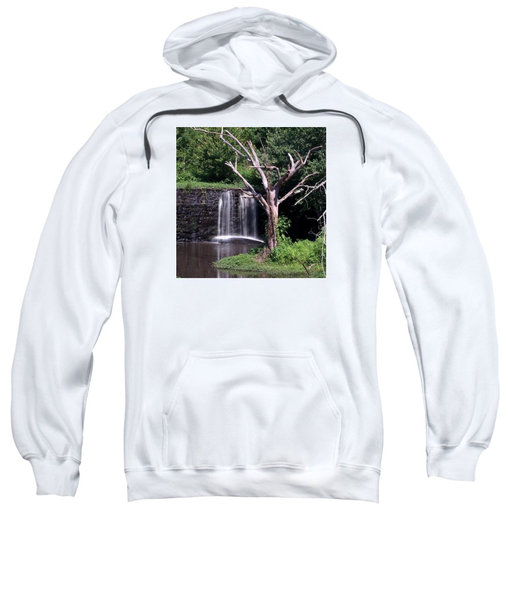 Ann Keisling Sweatshirt featuring the photograph Spill Over by Ann Keisling