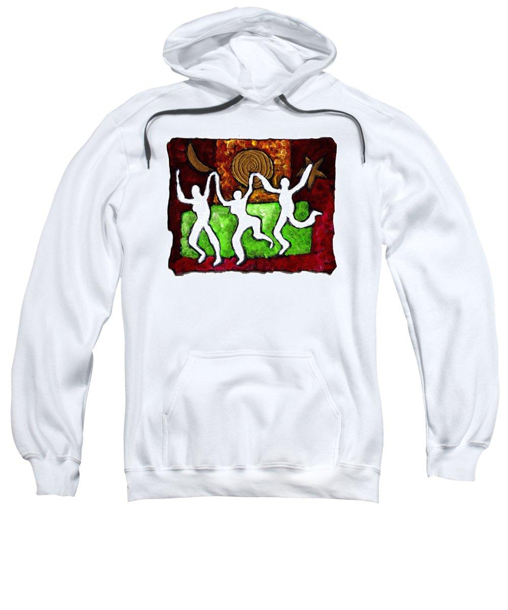 Dance Sweatshirt featuring the painting Spirits Of The Dance by Wayne Potrafka