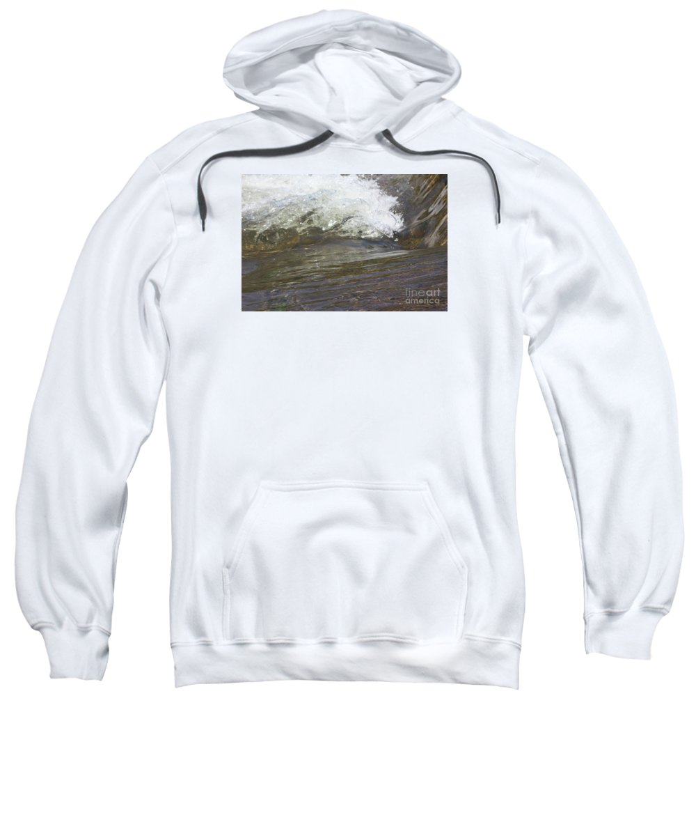 Water Sweatshirt featuring the photograph Splabstract by Gordon J Weber