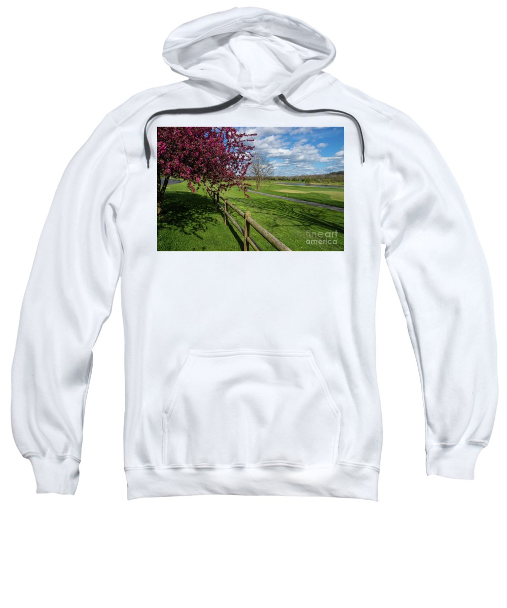 America Sweatshirt featuring the photograph Spring At Rivercut by Jennifer White