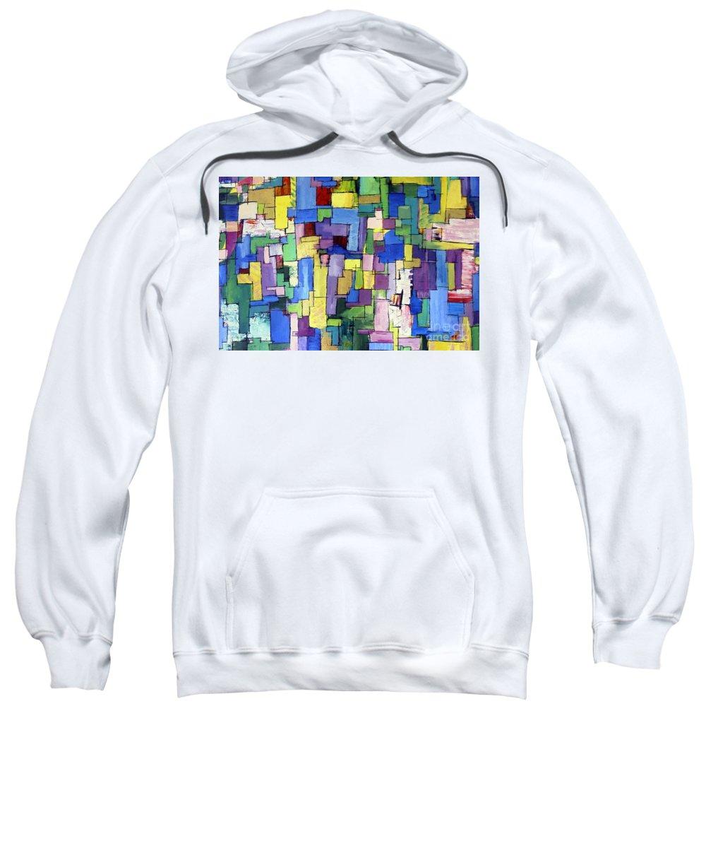 Spring Fling Sweatshirt featuring the painting Spring Fling by Dawn Hough Sebaugh