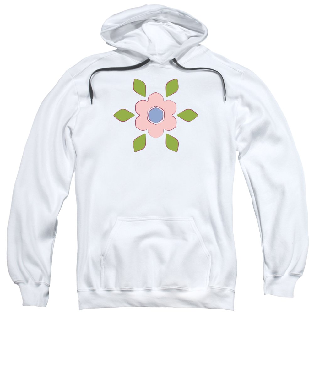 Easter Sweatshirt featuring the tapestry - textile Spring Floral Pattern Textiles by Jozef Jankola