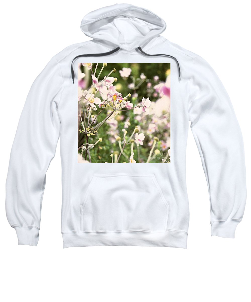 Pink Sweatshirt featuring the photograph Spring Petals by Danielle Basler