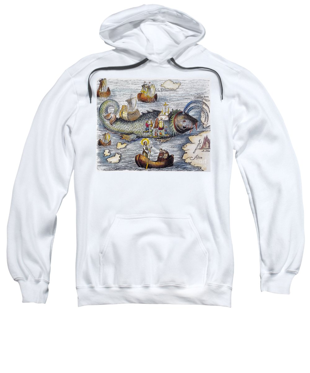 Aod Sweatshirt featuring the painting St. Brendan: Mass by Granger