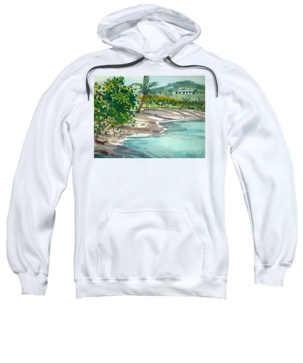 St. Croix Sweatshirt featuring the painting St. Croix Beach by Donald Maier